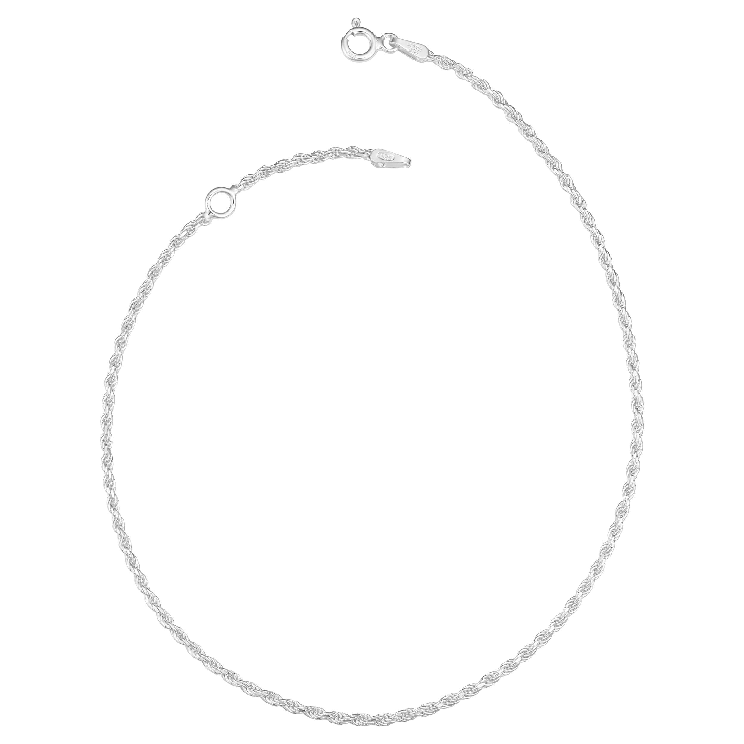 Fremada Italian Sterling Silver Diamond-cut Rope Chain An...