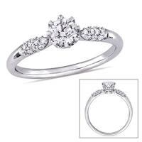 Miadora Signature Collection 14k White Gold 1/2ct TDW Diamond Engagement Ring