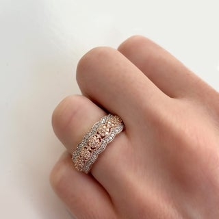 Miadora Signature Collection 10k Rose Gold 1/2ct TDW Diamond Milgrain Detail Anniversary Ring (More options available)