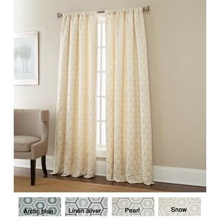 Sherry Kline Hexagon Jacquard 84-inch Curtain Panel Pair