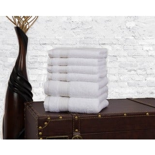 Somette Concierge Hotel Turkish Cotton Accessory 6-piece Hand Towel and Washcloth Set