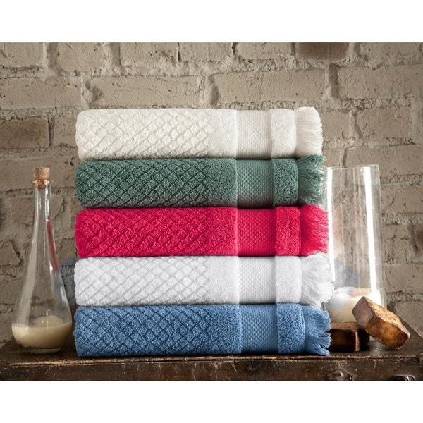 Somette 6-piece Diamond Jacquard Turkish Towel Set