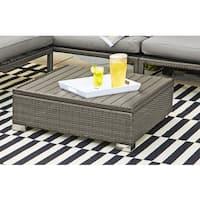 Havenside Home Stillwater Grey Indoor/Outdoor Rattan Cocktail Table