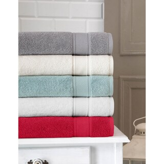 Somette 6-Piece Traditional Soft Turkish Cotton Towel Set