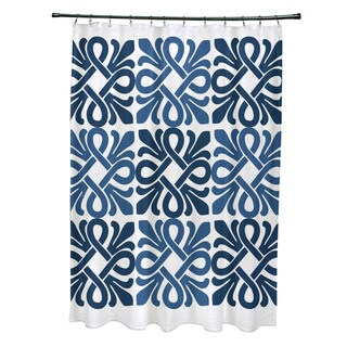 Tiki Square, Geometric Print Shower Curtain