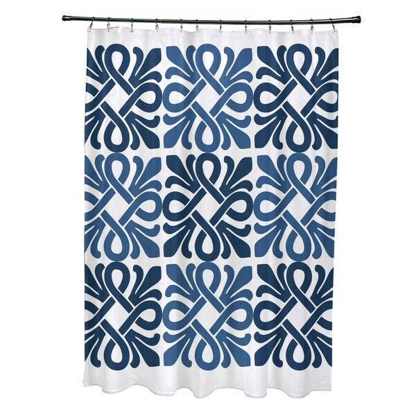 Tiki Square, Geometric Print Shower Curtain