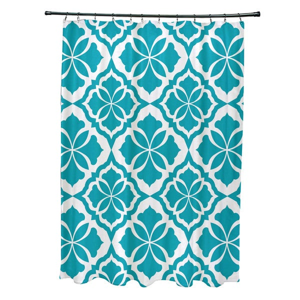 Ceylon, Geometric Print Shower Curtain