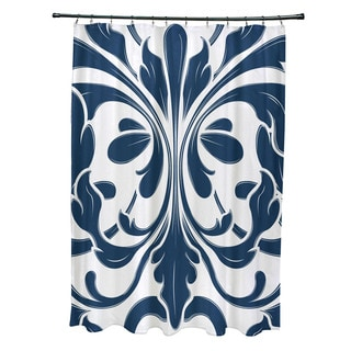 British Colonial, Geometric Print Shower Curtain