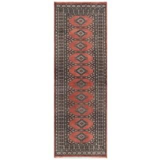 Herat Oriental Pakistani Hand-knotted Bokhara Wool Runner (2'7 x 7'8)