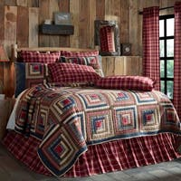 Blue Rustic Bedding VHC Braxton Quilt Cotton Patchwork