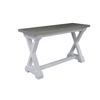 Palisade White and Grey Wood Console Table