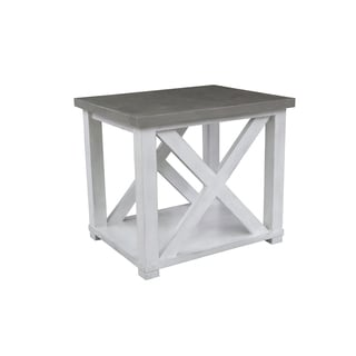 Palisade White/Grey Wood End Table