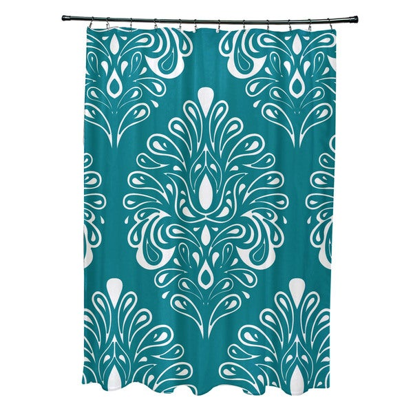 Veranda, Geometric Print Shower Curtain