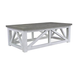 Palisade Grey/White Finish Wood Cocktail Table