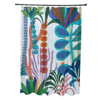 Tropical Jungle, Floral Print Shower Curtain