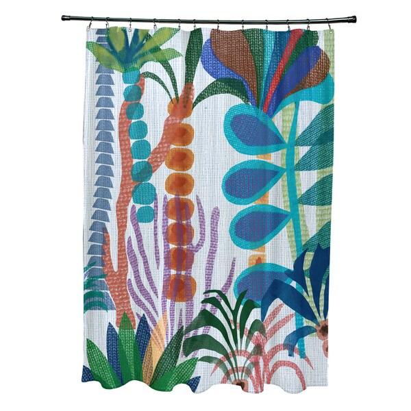Tropical Jungle, Floral Print Shower Curtain