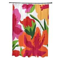 Tropical Floral, Floral Print Shower Curtain