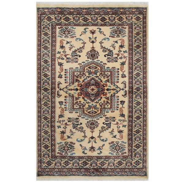 Shop Handmade Bokhara Wool Rug Pakistan 3 2 X 4 10