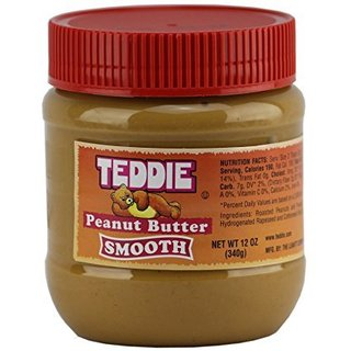 Teddie Peanut Butter, Creamy 12 Ounce Jar