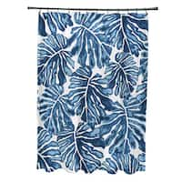 Palm Leaves, Floral Print Shower Curtain
