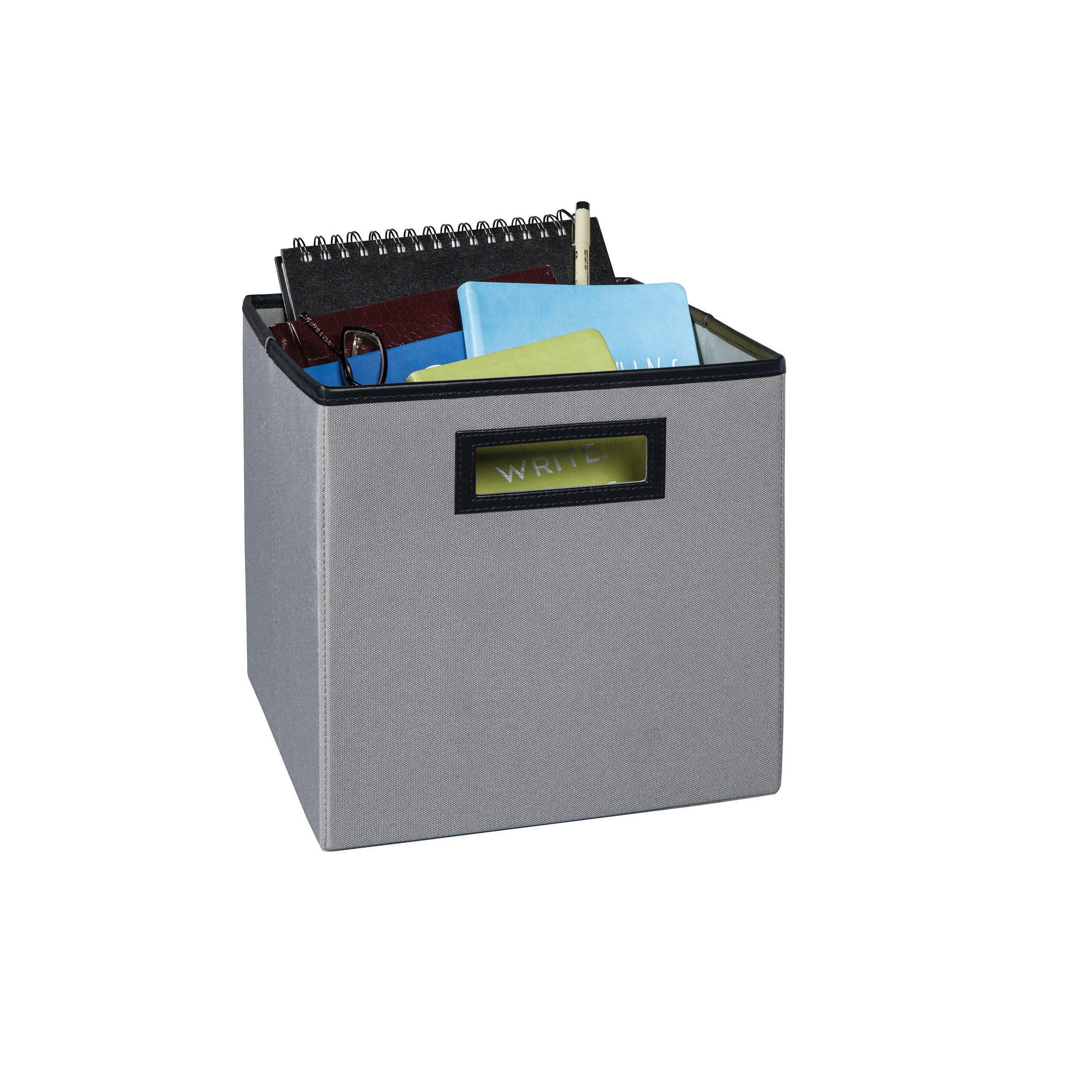 Closetmaid Premium Cubeicals Fabric Storage Bin (gray), B..