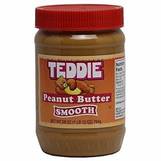 Teddie Peanut Butter, Creamy 28 Ounce Jar
