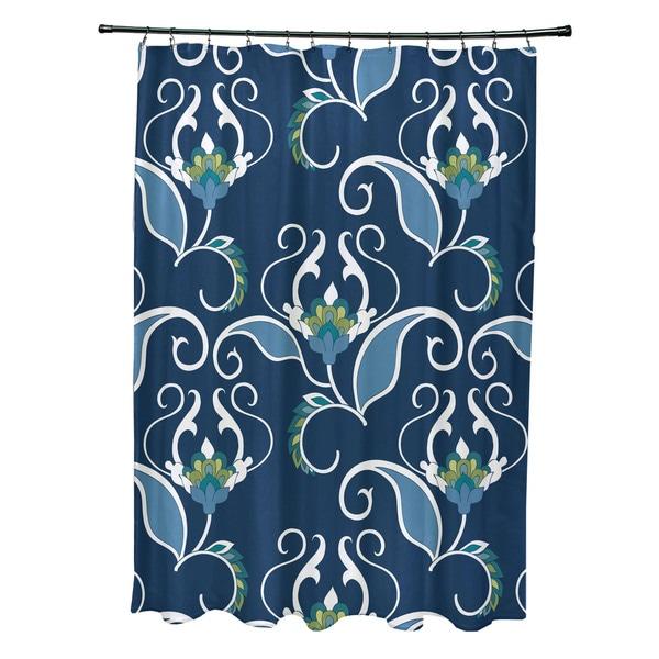 West Indies, Floral Print Shower Curtain