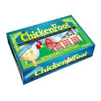 ChickenFoot Double 9 Color Dot Dominoes Tournament Size