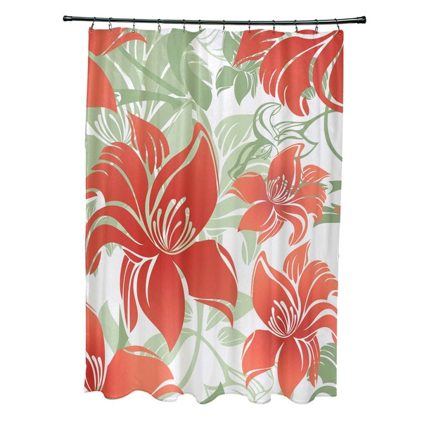 Tree Mallow, Floral Print Shower Curtain