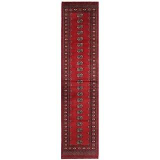 Handmade Herat Oriental Pakistani Bokhara Wool Runner - 2'8 x 11'10 (Pakistan)