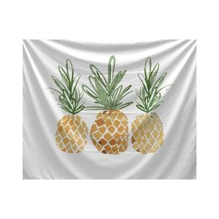 3 Pineapples, Geometric Print Tapestry