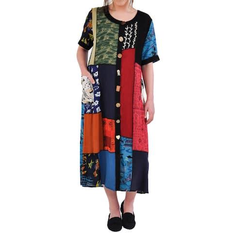 La Cera Women's Patchwork Dress