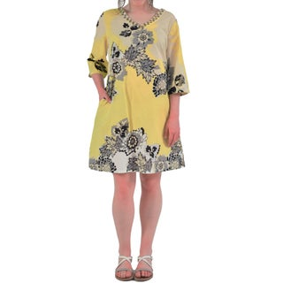 La Cera Women's V-Neck Beaded Cover Up (More options available)