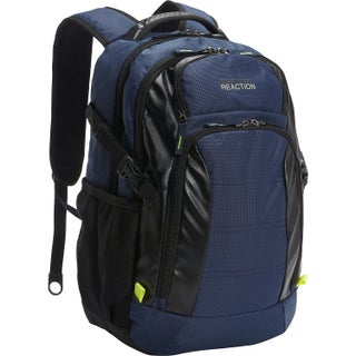 Kenneth Cole Reaction Moving Pack-wards Dual Compartment 15.6-inch Laptop Business Backpack (Option: Navy)
