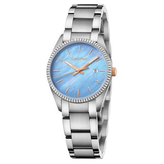 Calvin Klein Women's Alliance Stainless Steel Blue Swiss Quartz Watch