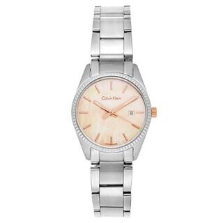 Calvin Klein Women's Alliance Stainless Steel Pink Swiss Quartz Watch
