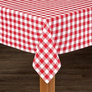 Buffalo Check Cotton Imported Tablecloth (Option: Tan)