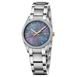 Calvin Klein Women's Alliance Stainless Steel Black Swiss Quartz Watch - Silver/Black