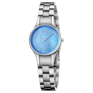 Calvin Klein Women's Simplicity Stainless Steel Blue Swiss Quartz Watch