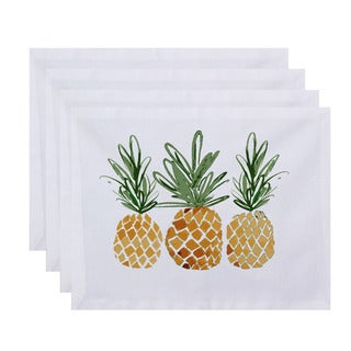 3 Pineapples, Geometric Print Placemat