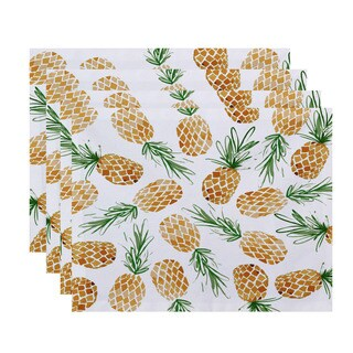 Tossed Pineapple, Geometric Print Placemat