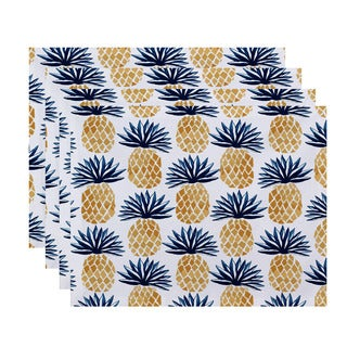 Pineapple Stripes, Geometric Print Placemat