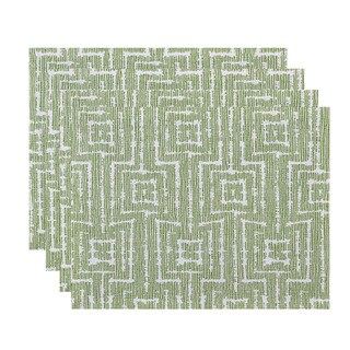 Woven Tiki, Geometric Print Placemat