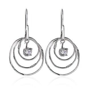 Handmade Sterling Silver Cubic Zirconia Earrings (Israel)