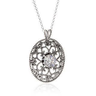 Handmade Sterling Silver Cubic Zirconia Necklace (Israel)