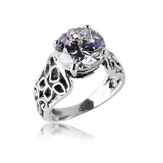 Handmade Sterling Silver Cubic Zirconia Ring (Israel)