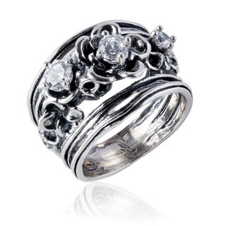 Handmade Sterling Silver Floral Ring (Israel)