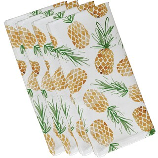 Tossed Pineapples, Geometric Print Napkin