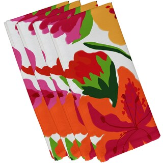 Tropical Floral, Floral Print Napkin