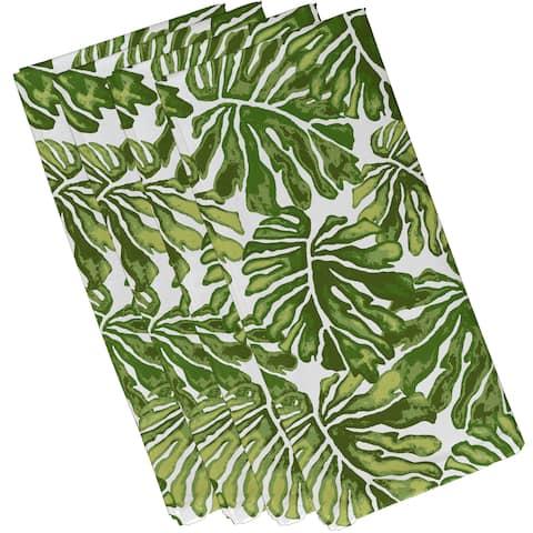Palm Leaves, Floral Print Napkin